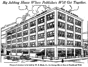 Wholesale District, Los Angeles - This six-story building for the publishing industry was planned for the heart of the District at East Fourth and Wall streets in 1911.