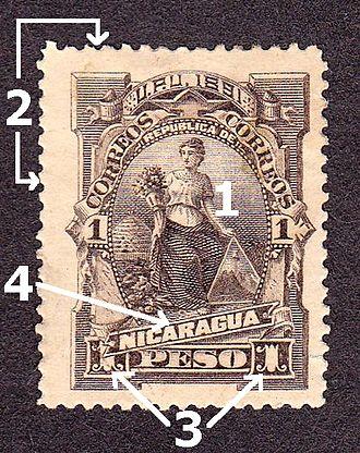 Postage stamp - Image: Nicaragua 1 1913