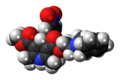 Nicardipine molecule spacefill.png