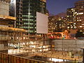 Nighttime shot of the construction pit at the Infinity (300 Spear Street) SF.JPG