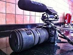 Nikon D7000 + 80200mm Lens + Rode Video Microphone - right angled.jpg
