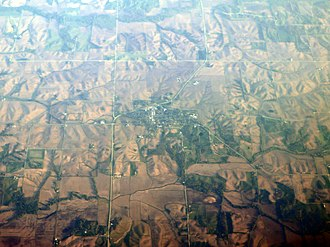 North English, Iowa - Aerial view of North English