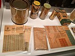 Norway's WW2 Resistance Museum, Oslo (Hjemmefrontmuseet). The Austerity of Occupation - misc. wartime ration stamp cards and surrogate replacement everyday products, food, etc. Photo 2017-11-30 b.jpg