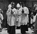 Novi škof dr. Rožman blagoslavlja ljudstvo pred katedralo.jpg