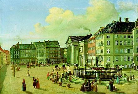 The Krak House seen on a painting from 1839 Nytorv 1839.jpg