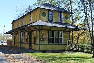 Buckingham Township, Wayne County, Pennsylvania - The former Starlight Station in Starlight, which is now the Buckingham Township Municipal Building. It is also a U.S. National Historic Place.