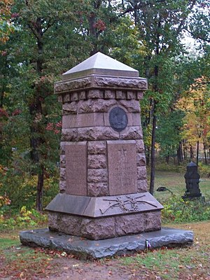 7th Ohio Infantry - The monument as it appears today.