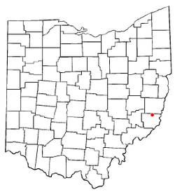Location of Beallsville, Ohio