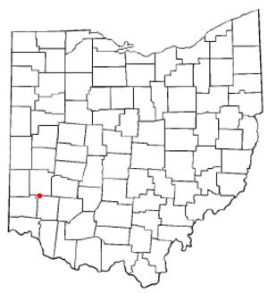 Carlisle, Ohio - Image: OH Map doton Carlisle