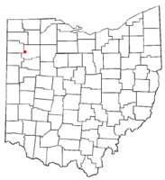 Location of Cloverdale, Ohio