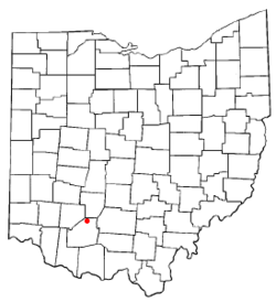 Location of Leesburg, Ohio