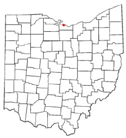 Location of Sandusky South, Ohio