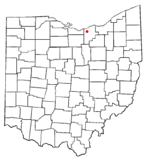 South Amherst, Ohio - Image: OH Map doton South Amherst