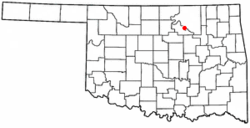 Location of Blackburn, Oklahoma