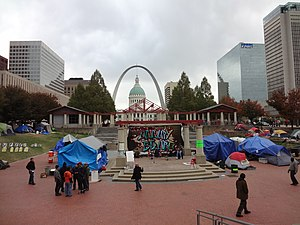 Occupy St. Louis - Image: Occupy St. Louis October 16, 2011 01