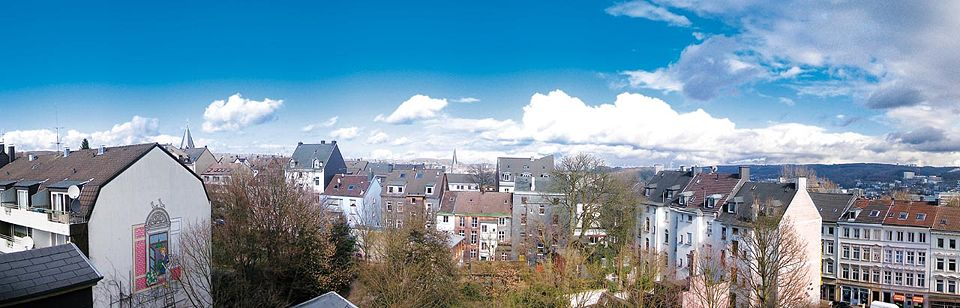 A panorama view over the Ölberg in Wuppertal