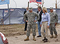 Oklahoma Gov. Mary Fallin, right foreground, leads U.S. Army Gen. Frank J. Grass, left foreground, the chief of the National Guard Bureau, on a tour through the Plaza Towers Elementary School in Moore, Okla 130528-Z-VF620-4007.jpg