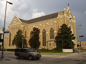 Co-Cathedral of the Sacred Heart (Houston) - The old Co-Cathedral of the Sacred Heart