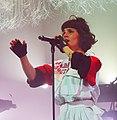 Olivia Merilahti avec The Dø en concert à Morlaix en 2015.jpg