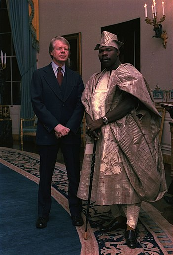 Jimmy Carter with Lt. Gen. Olusegun Obasanjo o...