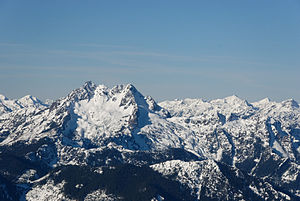 The Brothers (Olympic Mountains) - East face in winter