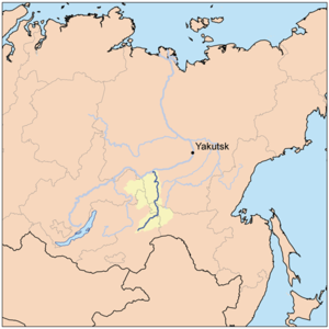 Olyokma River - Image: Olyokmarivermap