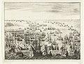 Ondergang van de Spaanse Armada De Spaansche oorlogsvloot van den Jaere MDLXXXVIII (titel op object), RP-P-OB-80.069.jpg