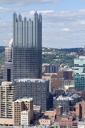 PPG Place - The complex as seen from Mount Washington.