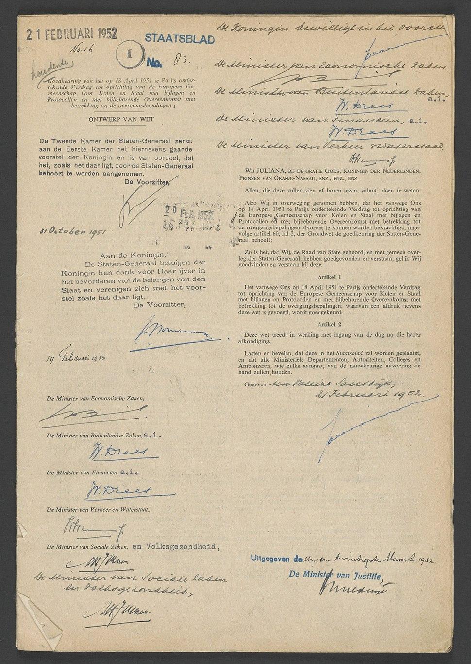 Oprichtingsverdrag EGKS NL-HaNA 2.02.20 10123