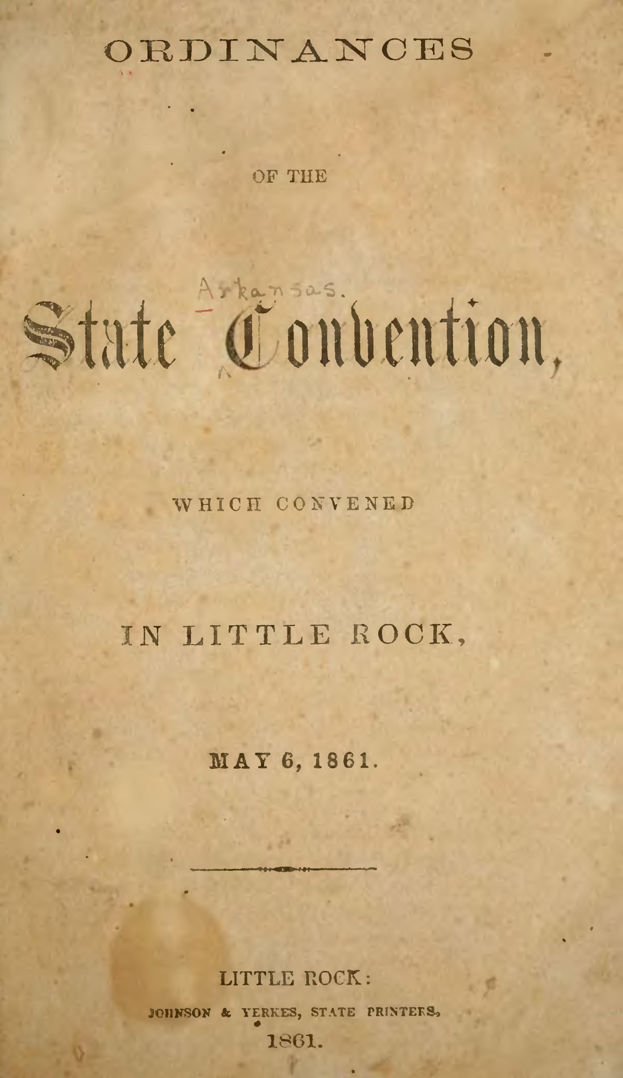 Page Ordinances Of Arkansas Secession Convention Djvu 7