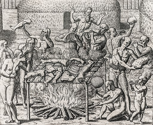 Os Filhos de Pindorama. Cannibalism in Brazil in 1557