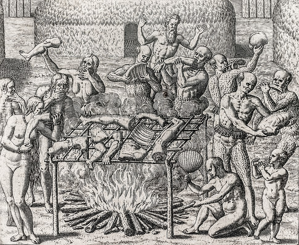 Os Filhos de Pindorama. Cannibalism in Brazil in 1557