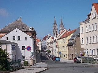 Oschatz Place in Saxony, Germany