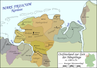 East Frisia - Image: Ostfriesland um 1300