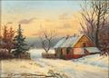 Otto Bache - Vinterlandskab med husmandssted - 1857.png