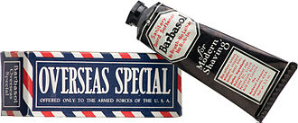 Barbasol - Overseas Special for members of the Military supplied by Barbasol
