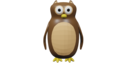Owl Animation Clip Art - Low Poly Sprite.png
