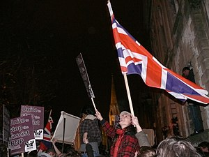 Protest, 26th November 2007, opposing the invi...