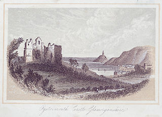 Oystermouth castle, Glamorganshire
