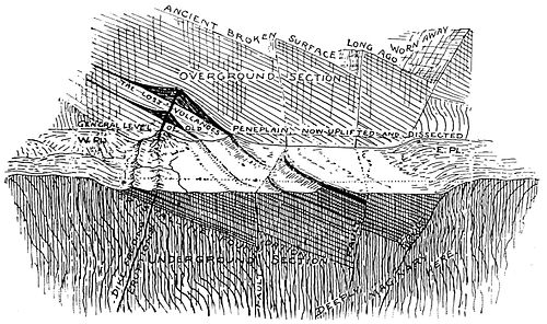 PSM V40 D247 Diagrammatic view of a faulted monocline.jpg