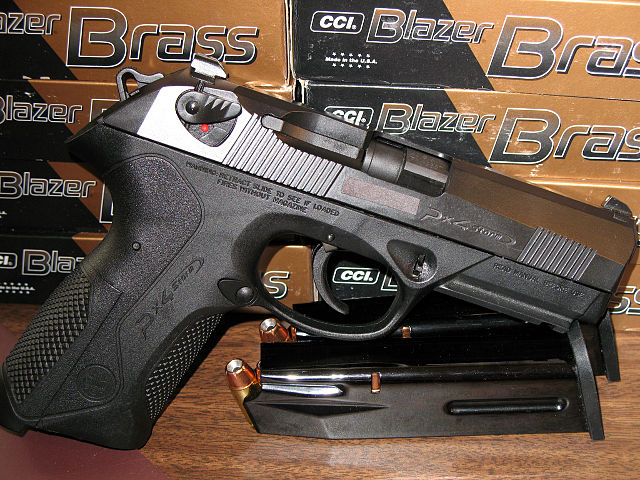Beretta PX Storm By Solidpoint at English Wikipedia (Transferred from en.wikipedia to Commons.) [Public domain], via Wikimedia Commons