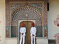 Palace guards at a doorway in Pitam Niwas Chowk, City Palace, Jaipur, India - 20091027.jpg