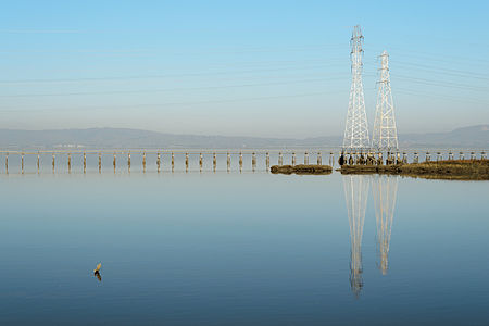 Power lines, Palo Alto Baylands