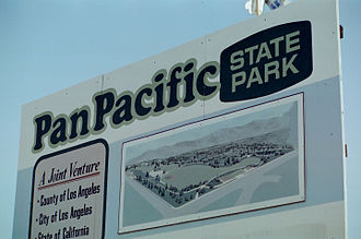 Pan-Pacific Auditorium - Pan Pacific State Park Sign