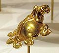 Panama, veraguas, pendente a forma di tartaruga, XI-XVI sec. ca., 03 oro fuso.JPG
