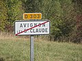 Panneau sortie Avignon St Claude oct 2018 1.jpg