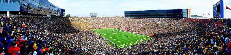 Michigan Stadium during a football game