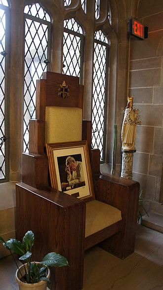 Cathedral of the Most Blessed Sacrament - Chair used by Pope John Paul II's 1987 visit