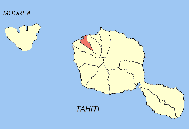 Location of the commune (in red) within the Windward Islands