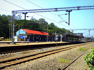 Paravur railway station - A view of Paravur railway station from the north side